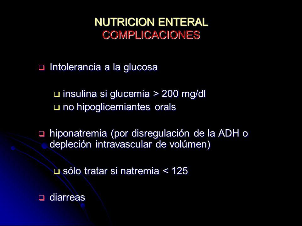 NUTRICION ENTERAL COMPLICACIONES