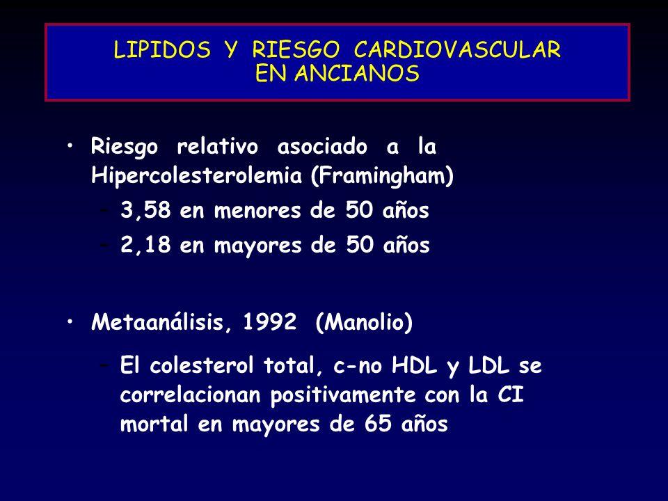 LIPIDOS Y RIESGO CARDIOVASCULAR EN ANCIANOS