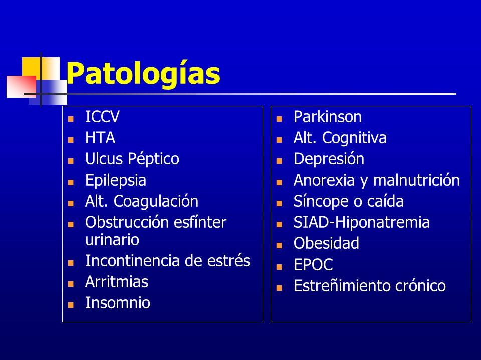 Patologías ICCV HTA Ulcus Péptico Epilepsia Alt. Coagulación
