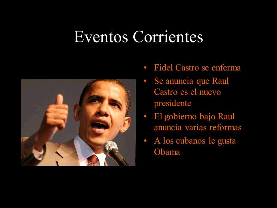Eventos Corrientes Fidel Castro se enferma