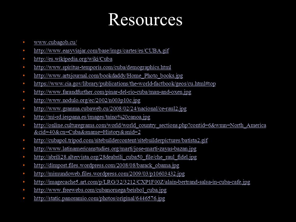 Resources www.cubagob.cu/