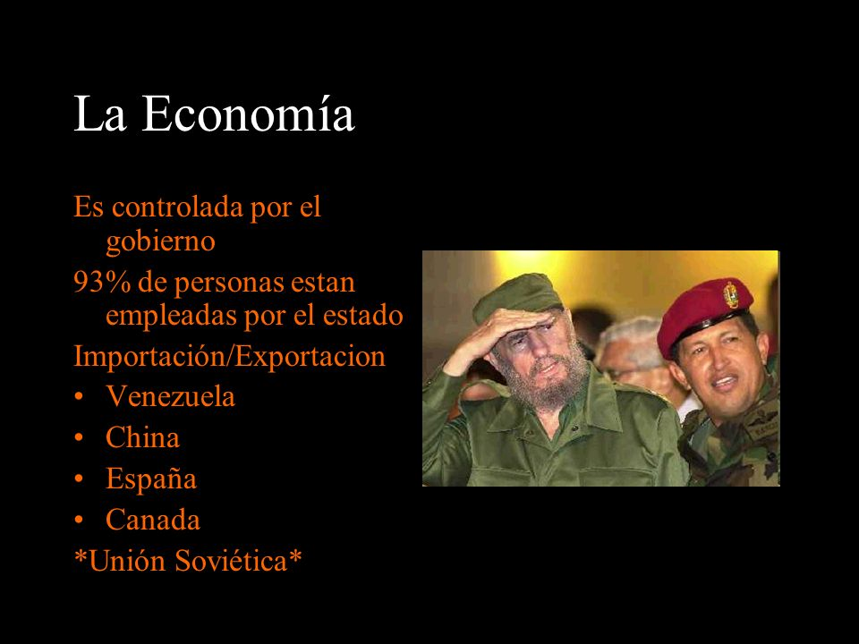 La Economía Es controlada por el gobierno