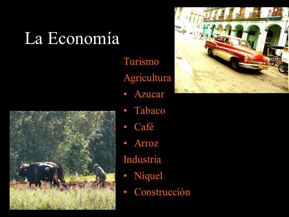 La Economía Turismo Agricultura Azucar Tabaco Café Arroz Industria