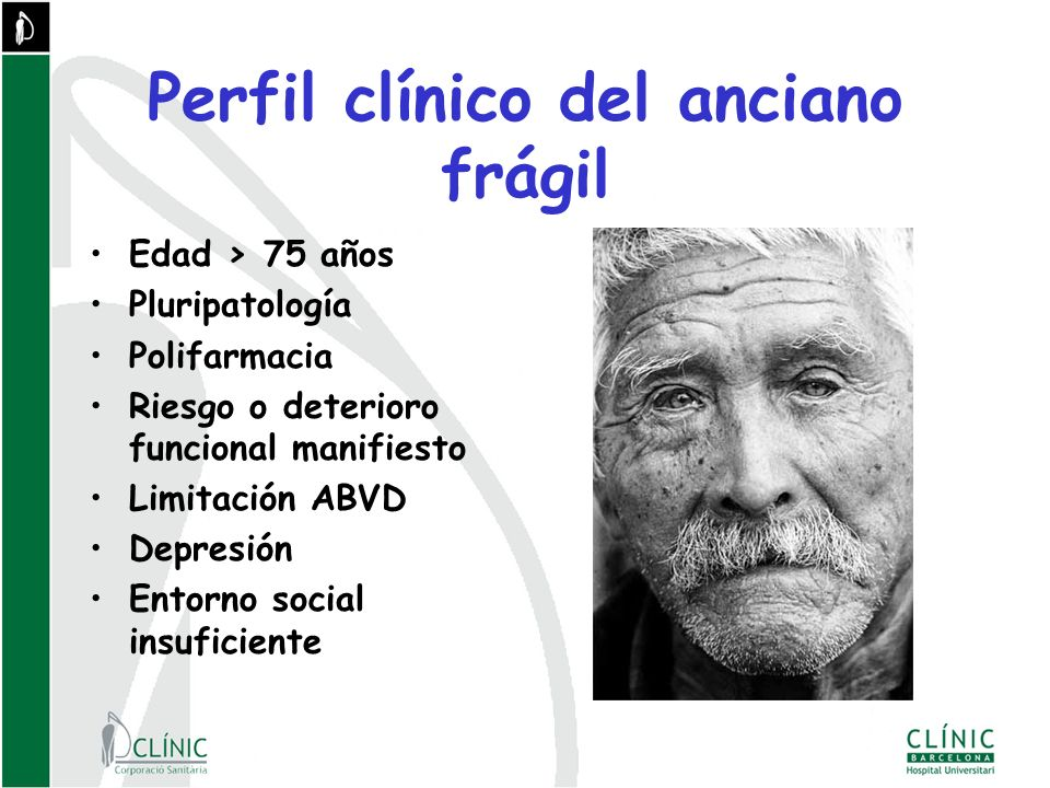 Perfil clínico del anciano frágil