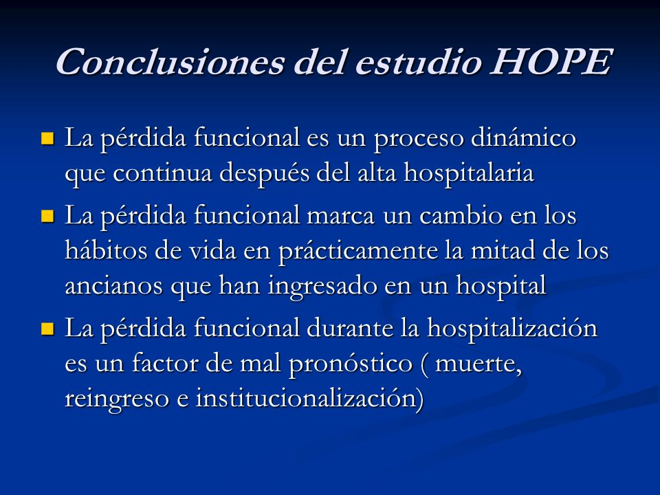 Conclusiones del estudio HOPE