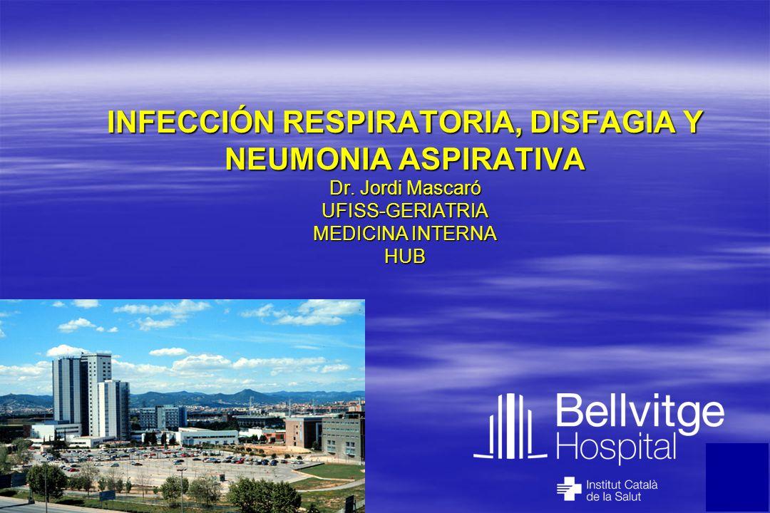 INFECCIÓN RESPIRATORIA, DISFAGIA Y NEUMONIA ASPIRATIVA Dr