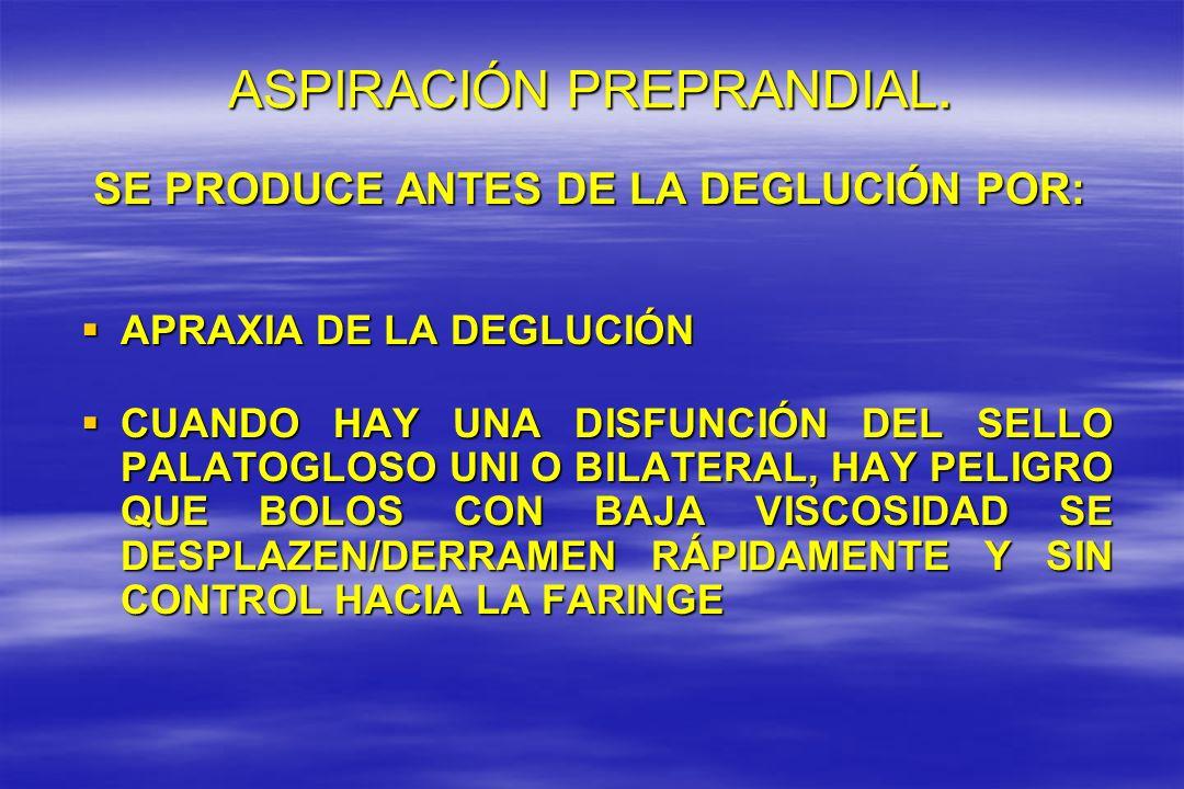 ASPIRACIÓN PREPRANDIAL.