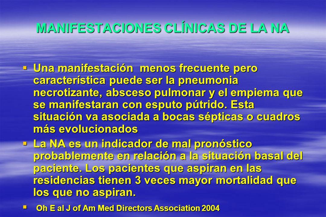 MANIFESTACIONES CLÍNICAS DE LA NA