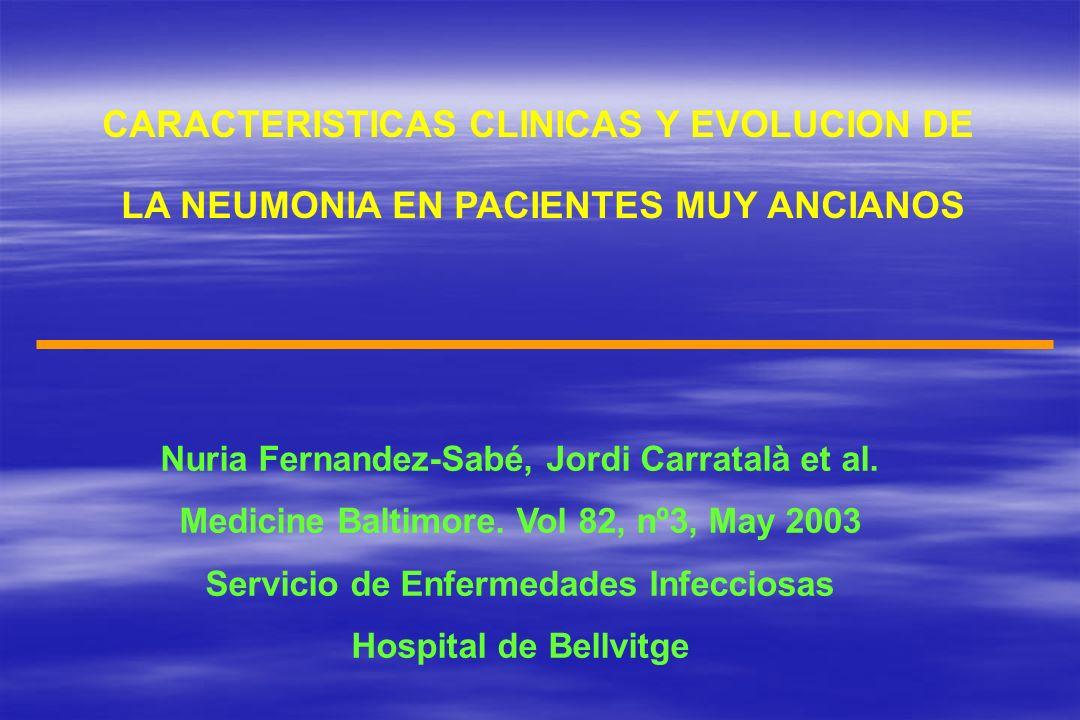 CARACTERISTICAS CLINICAS Y EVOLUCION DE