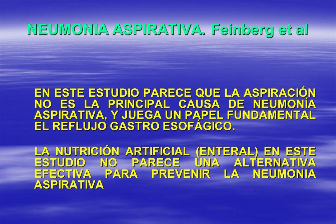 NEUMONIA ASPIRATIVA. Feinberg et al