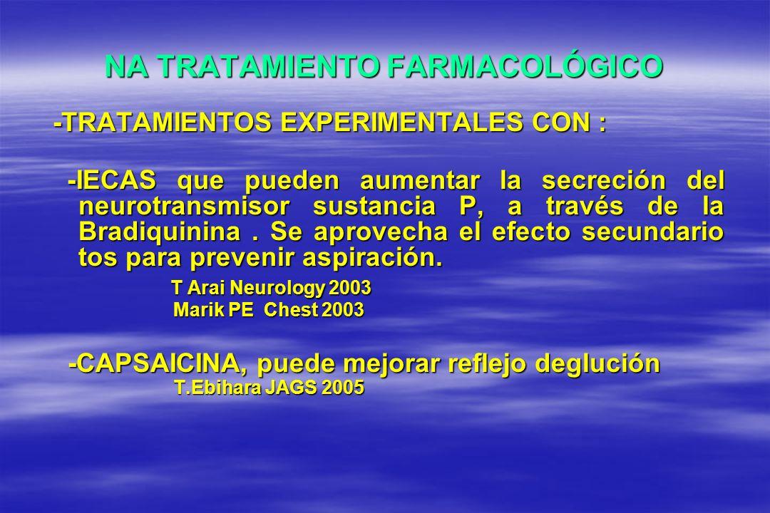 NA TRATAMIENTO FARMACOLÓGICO