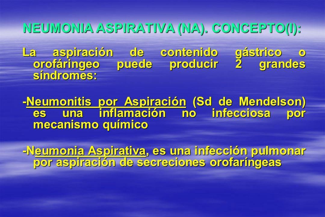 NEUMONIA ASPIRATIVA (NA). CONCEPTO(I):