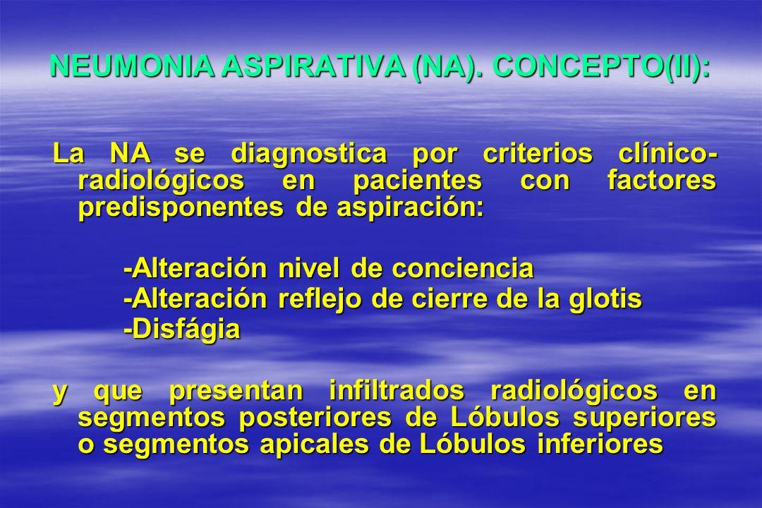 NEUMONIA ASPIRATIVA (NA). CONCEPTO(II):