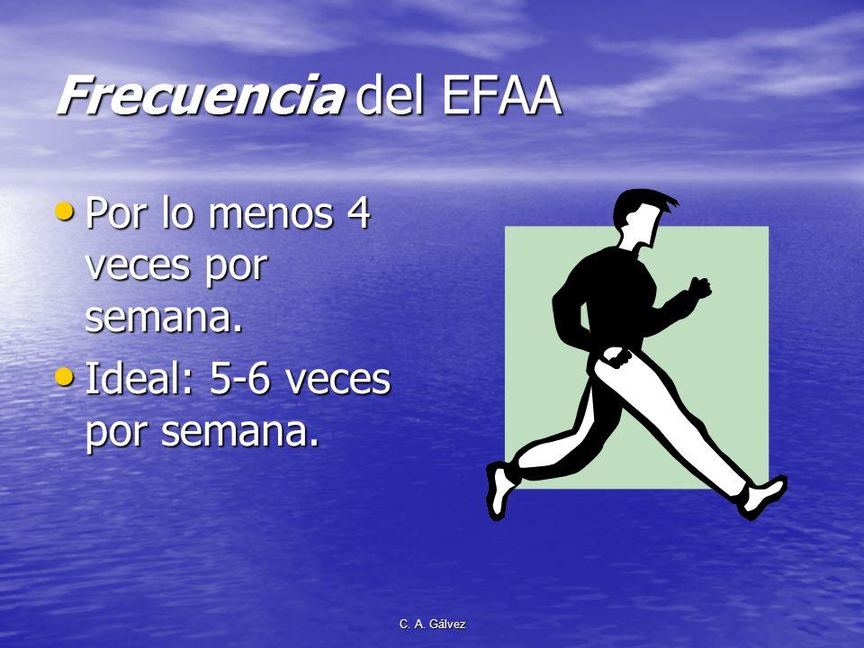 Frecuencia del EFAA Por lo menos 4 veces por semana.