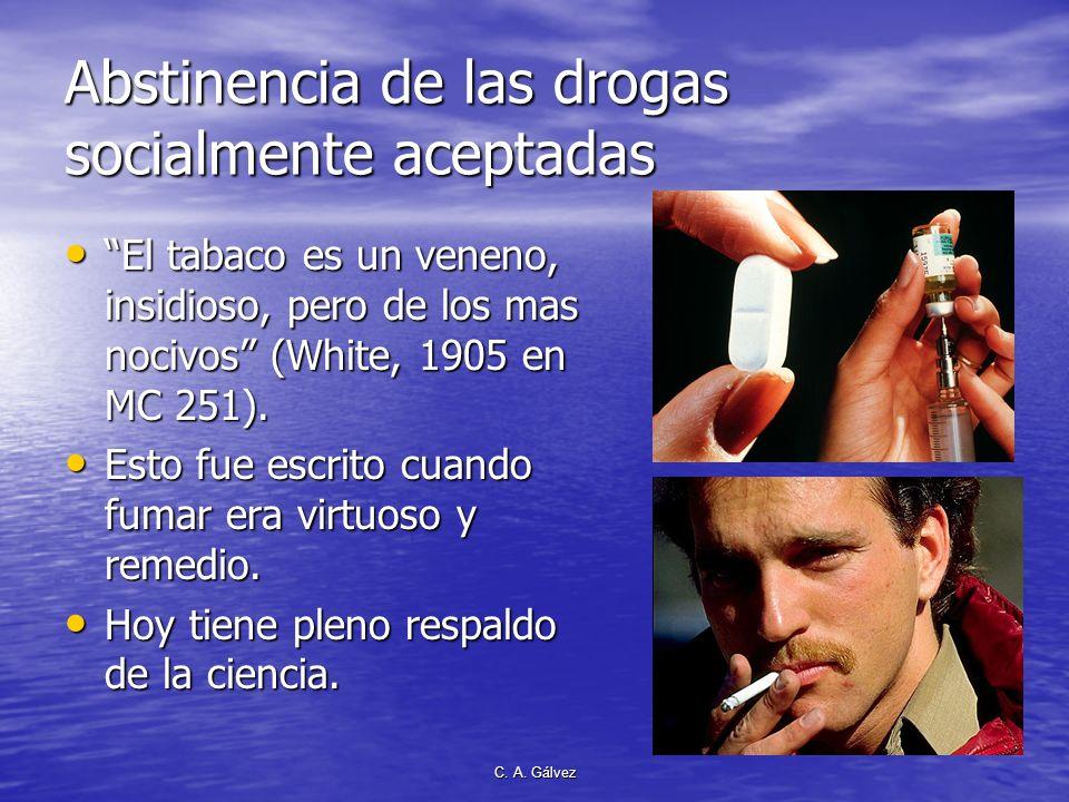Abstinencia de las drogas socialmente aceptadas