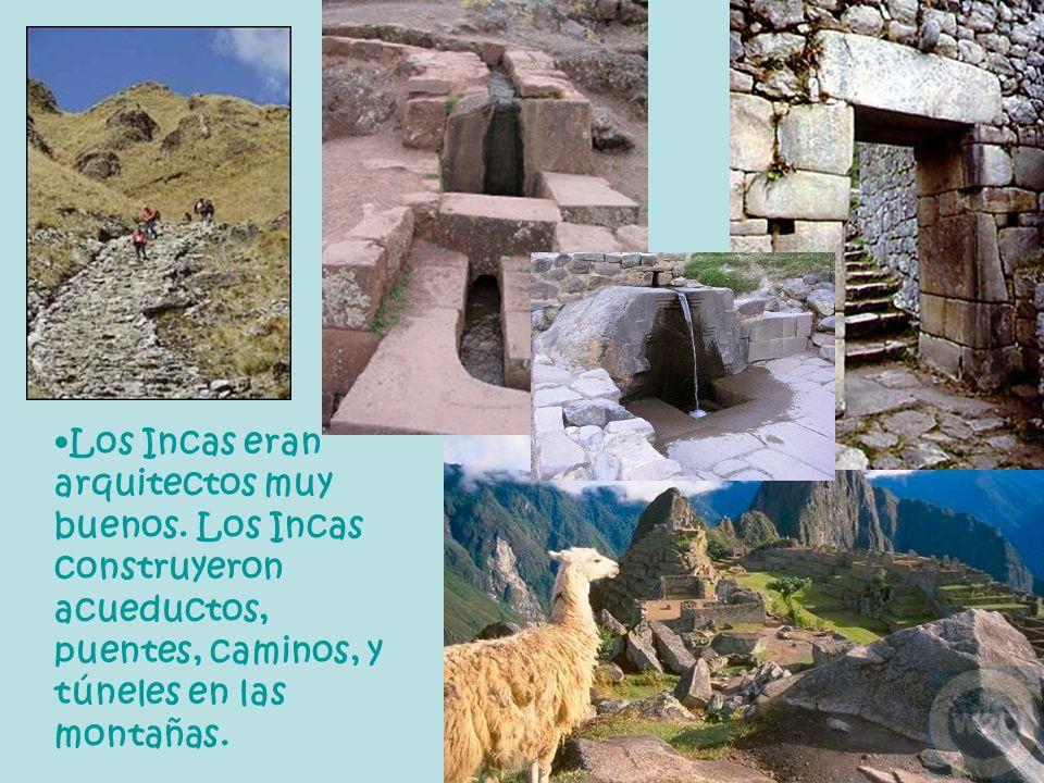 Los Incas eran arquitectos muy buenos