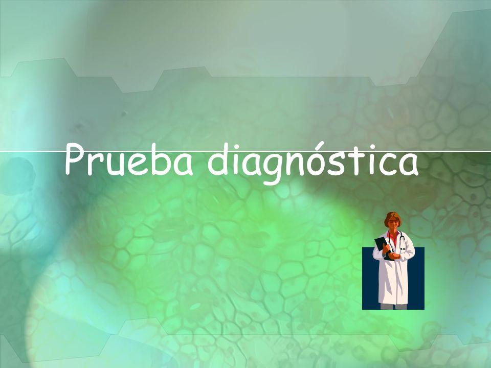 Prueba diagnóstica