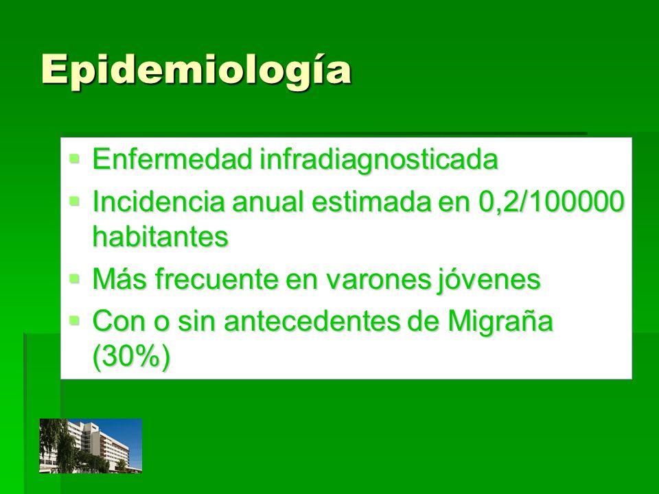 Epidemiología Enfermedad infradiagnosticada