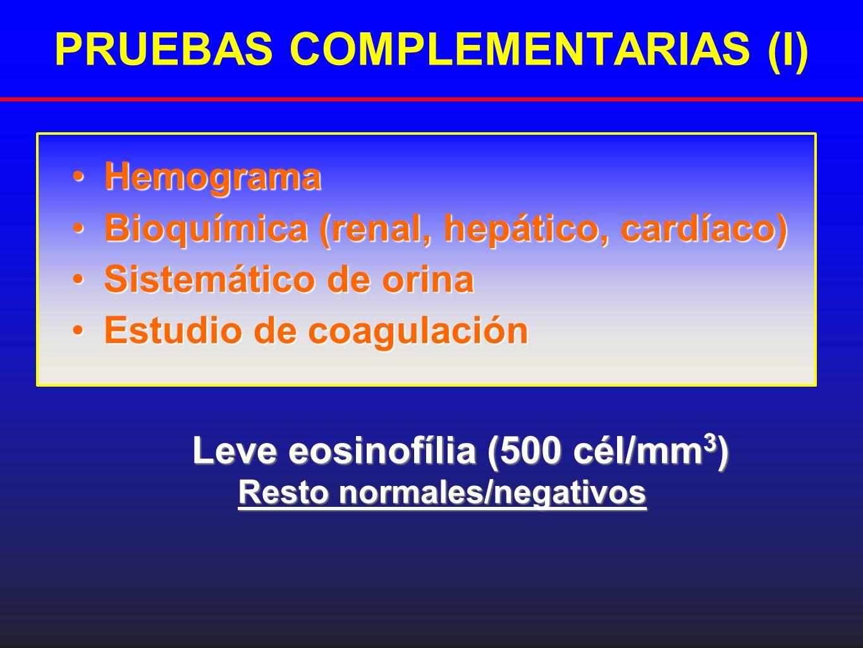 PRUEBAS COMPLEMENTARIAS (I)