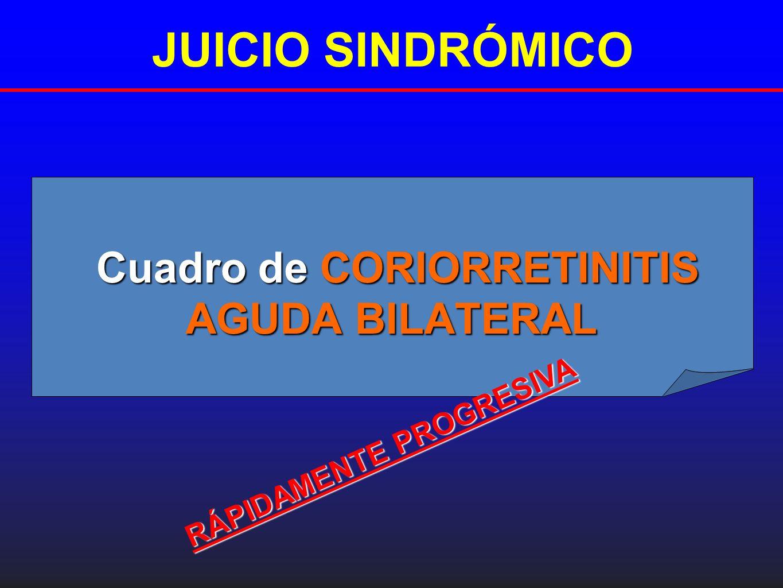 Cuadro de CORIORRETINITIS AGUDA BILATERAL