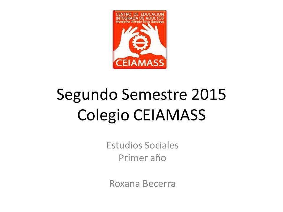 Segundo Semestre 2015 Colegio CEIAMASS