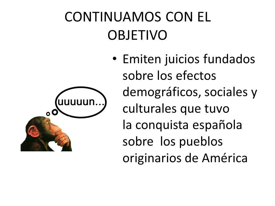 CONTINUAMOS CON EL OBJETIVO
