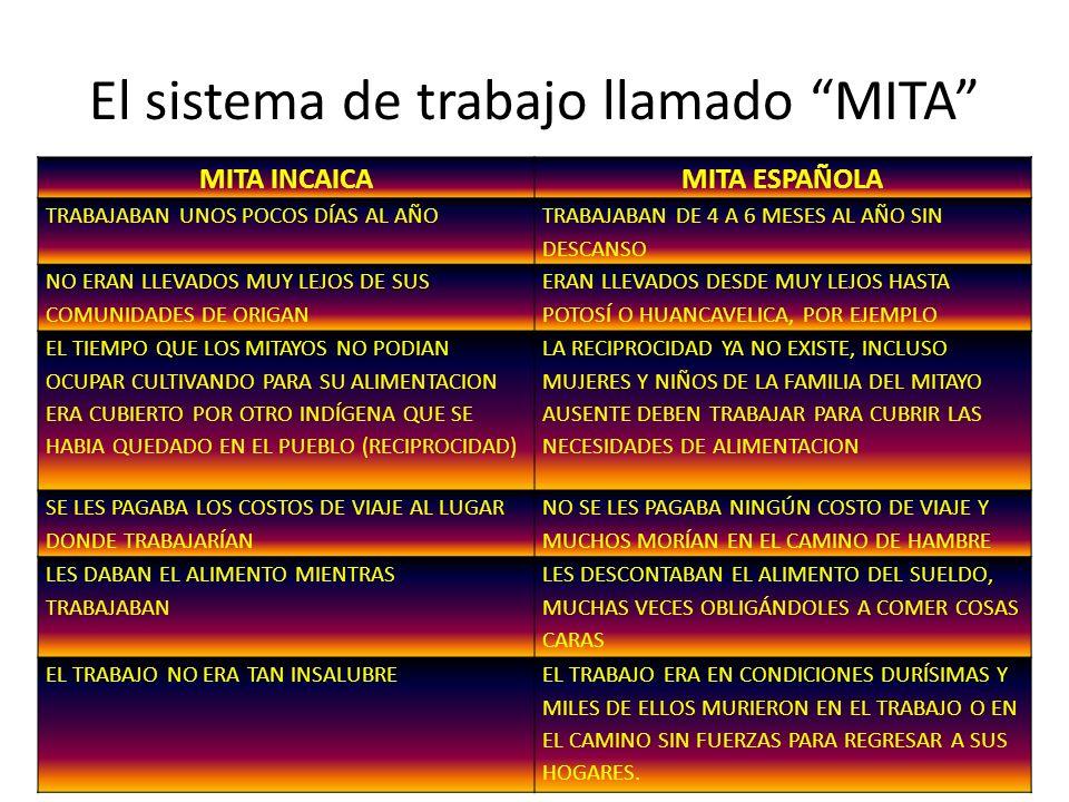 El sistema de trabajo llamado MITA