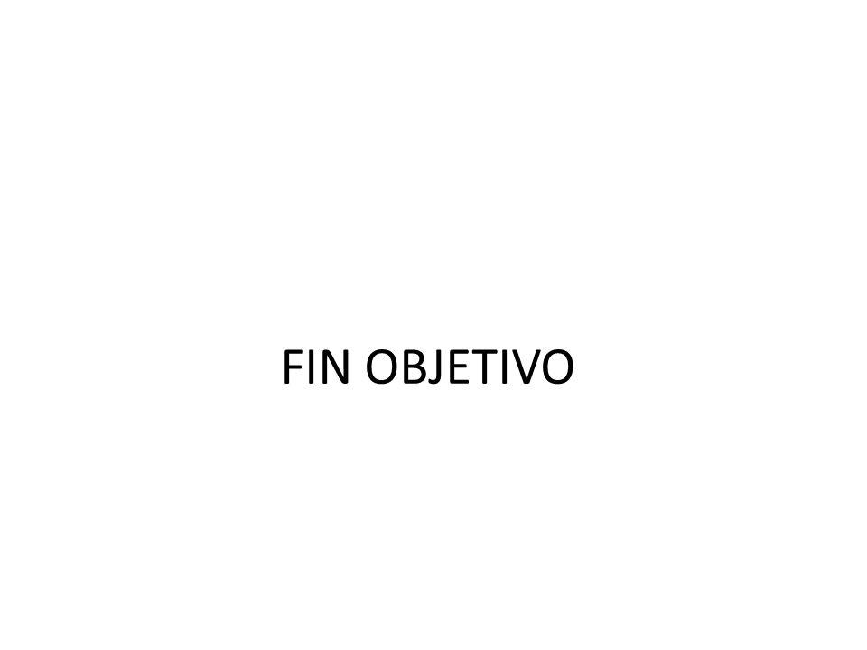 FIN OBJETIVO