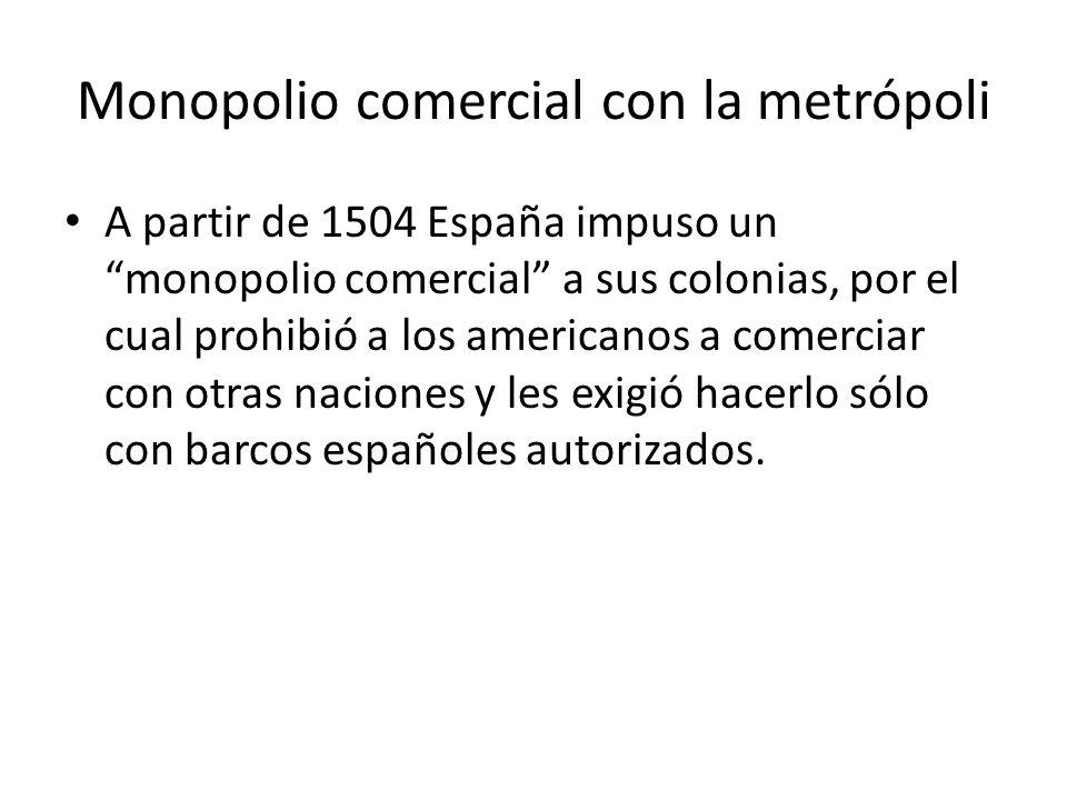 Monopolio comercial con la metrópoli
