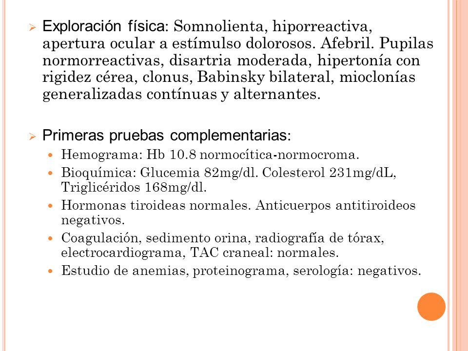 Primeras pruebas complementarias: