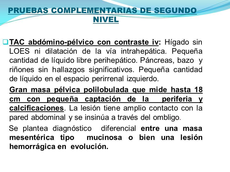 PRUEBAS COMPLEMENTARIAS DE SEGUNDO NIVEL