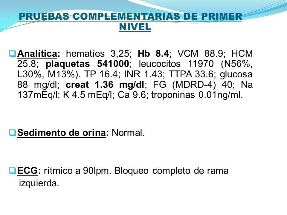 PRUEBAS COMPLEMENTARIAS DE PRIMER NIVEL