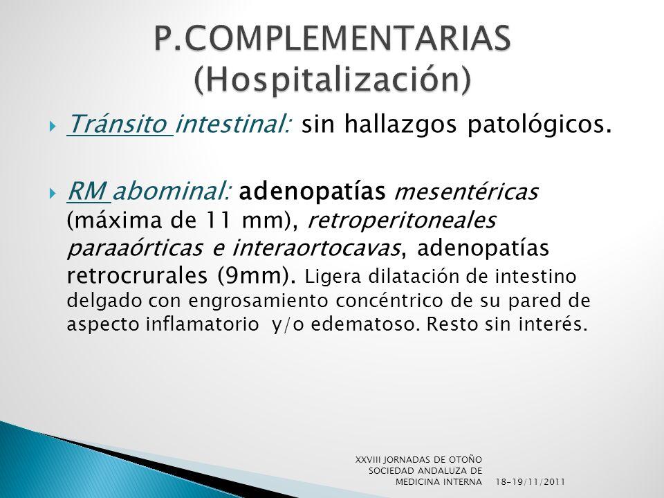 P.COMPLEMENTARIAS (Hospitalización)