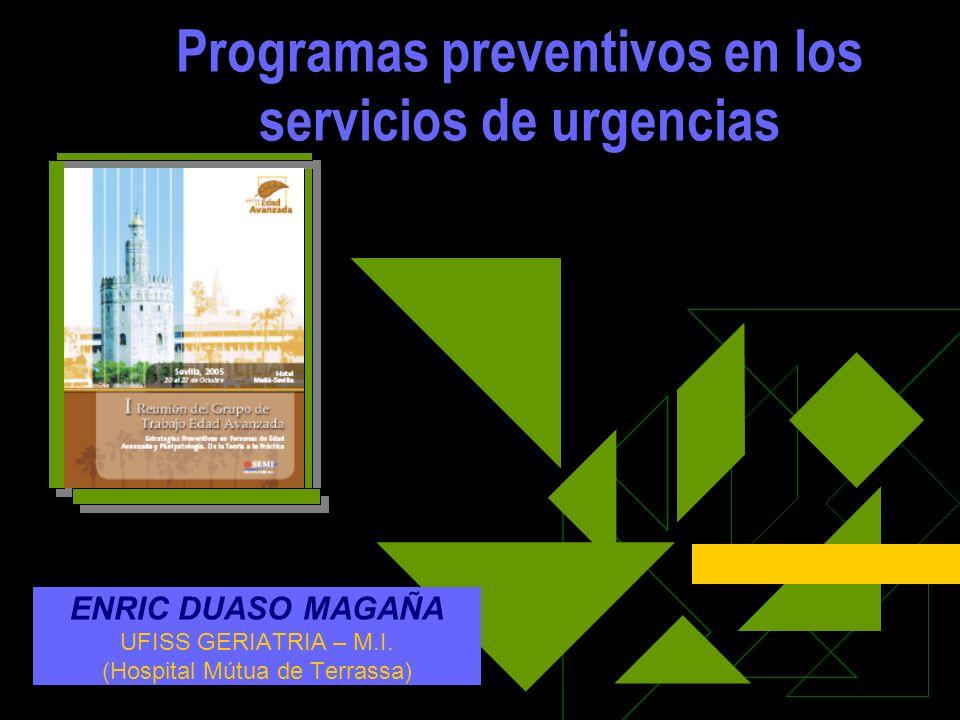 Programas preventivos en los servicios de urgencias