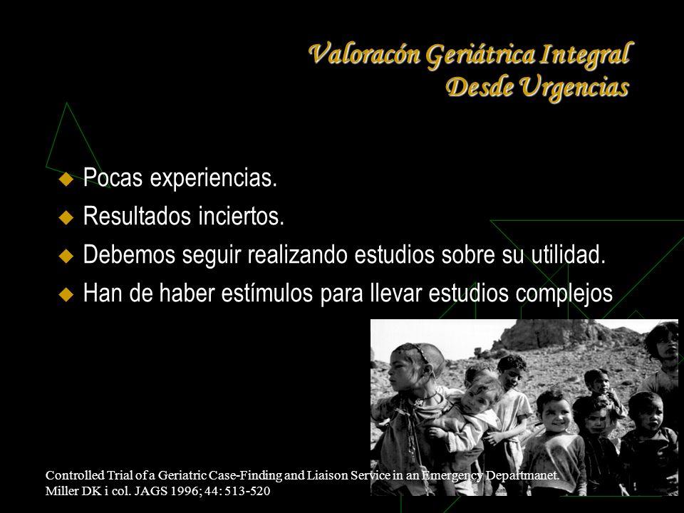 Valoracón Geriátrica Integral Desde Urgencias