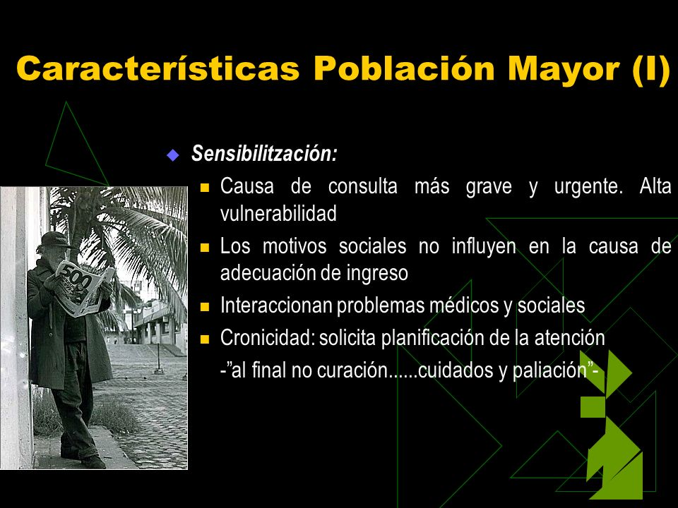 Características Población Mayor (I)