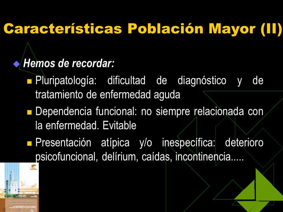 Características Población Mayor (II)