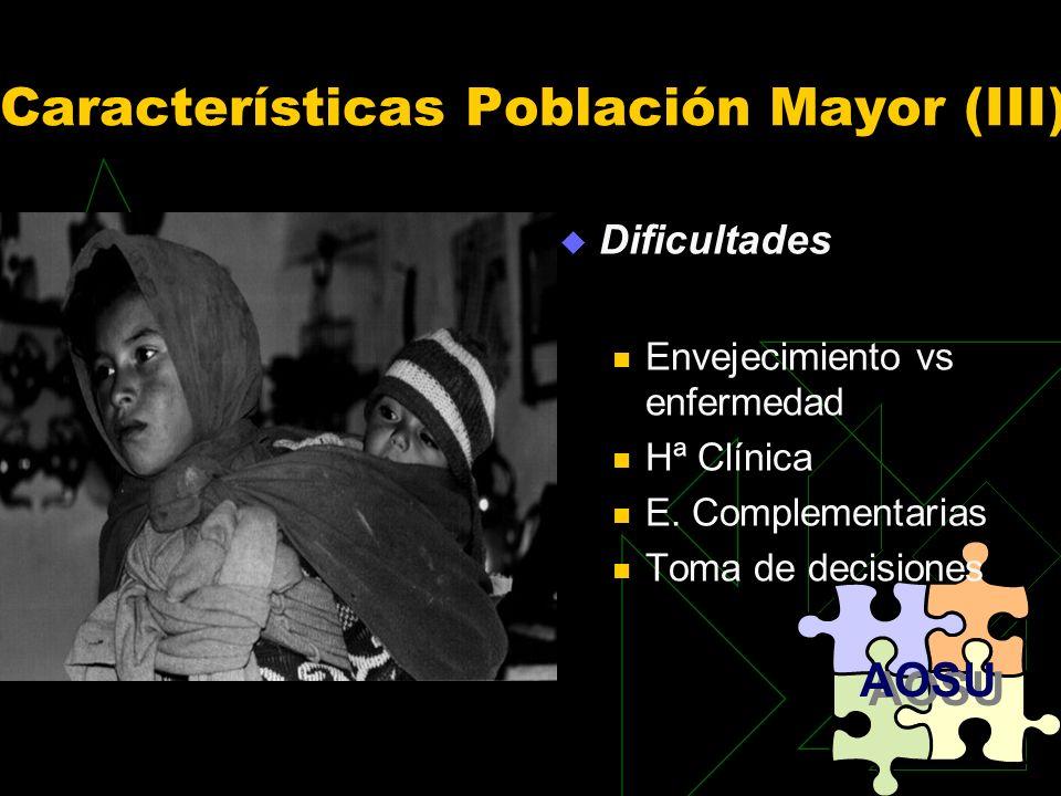 Características Población Mayor (III)