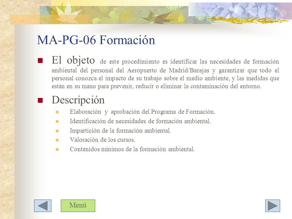 MA-PG-06 Formación