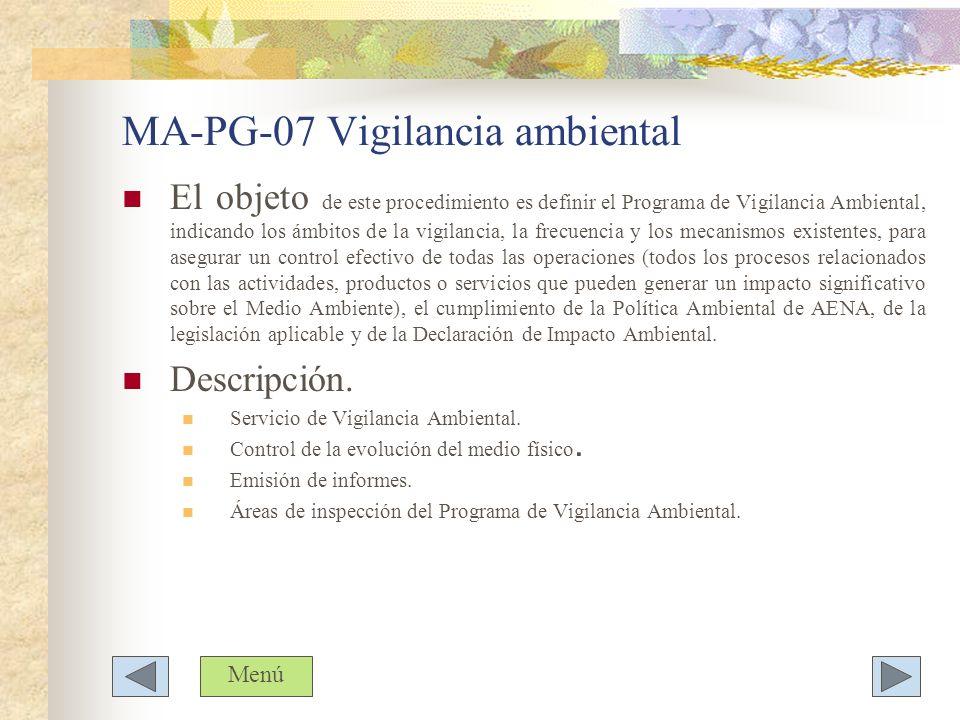 MA-PG-07 Vigilancia ambiental