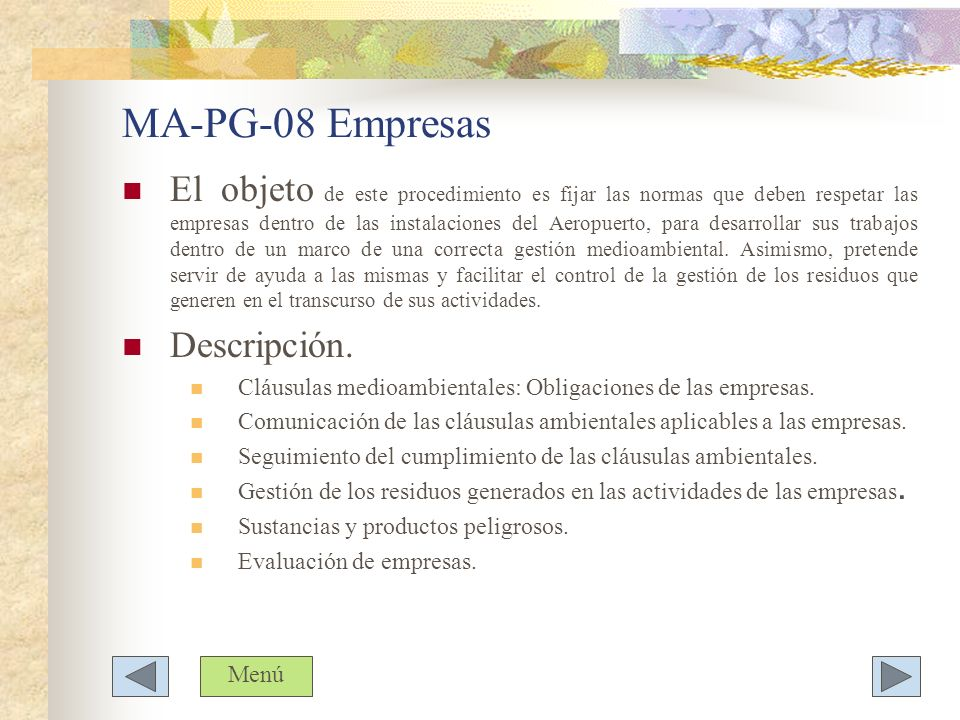 MA-PG-08 Empresas