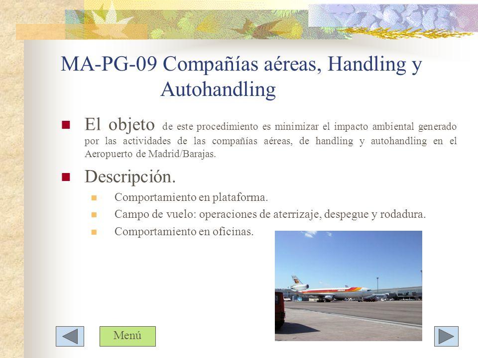 MA-PG-09 Compañías aéreas, Handling y Autohandling