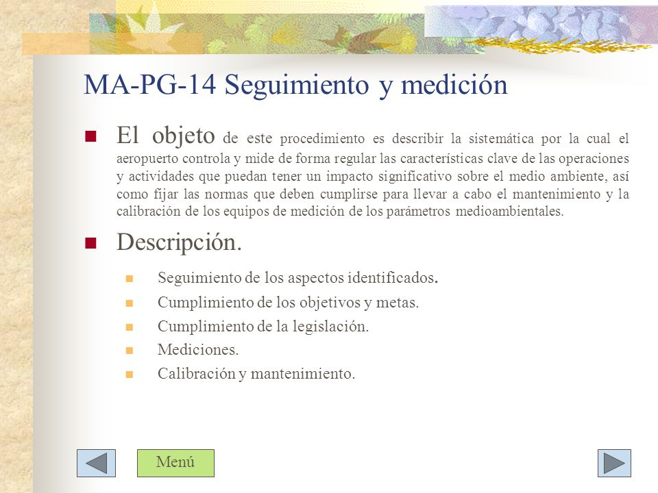 MA-PG-14 Seguimiento y medición