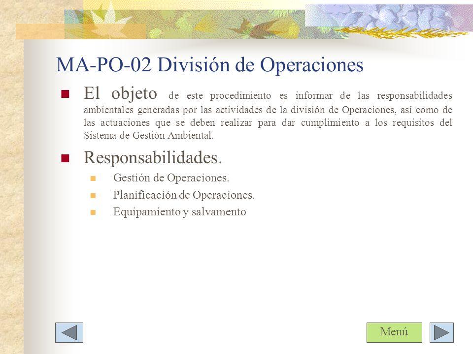 MA-PO-02 División de Operaciones