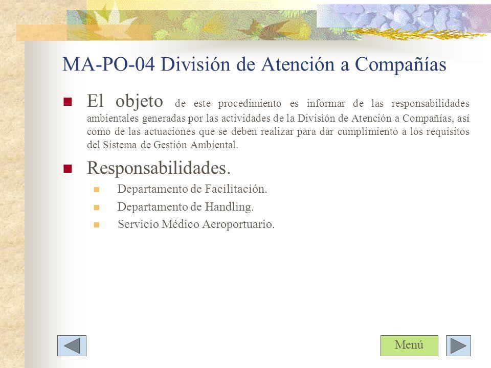 MA-PO-04 División de Atención a Compañías