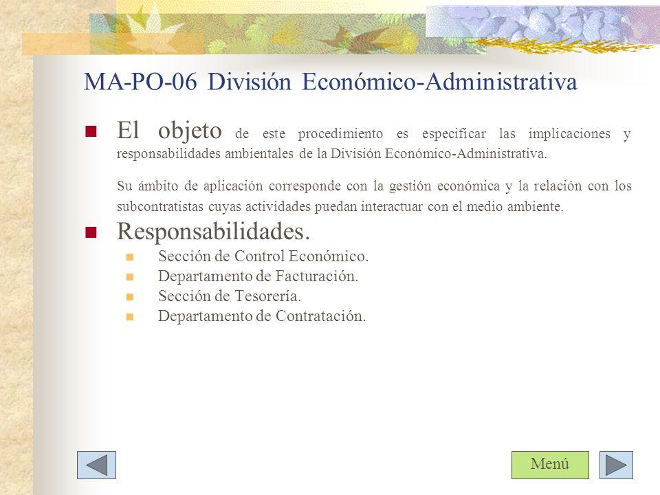MA-PO-06 División Económico-Administrativa