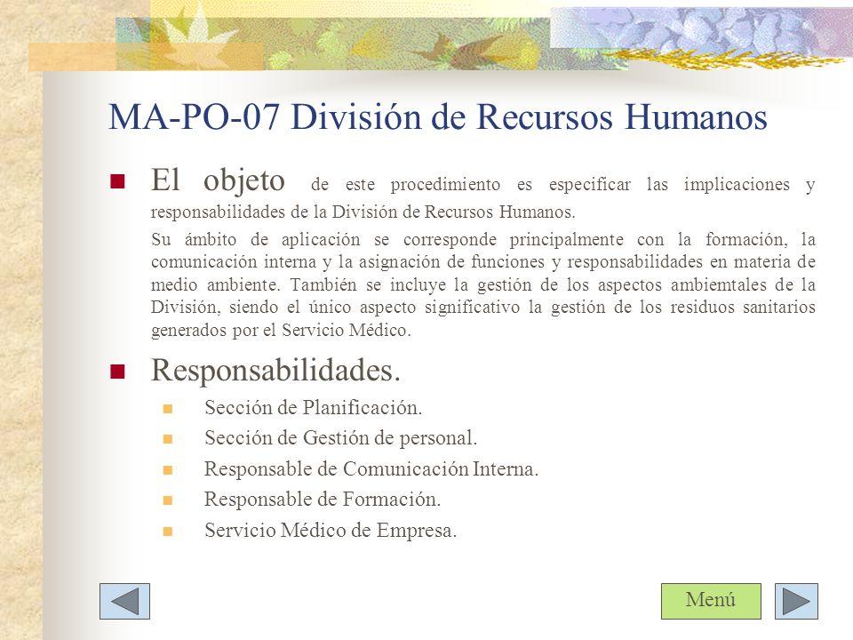 MA-PO-07 División de Recursos Humanos