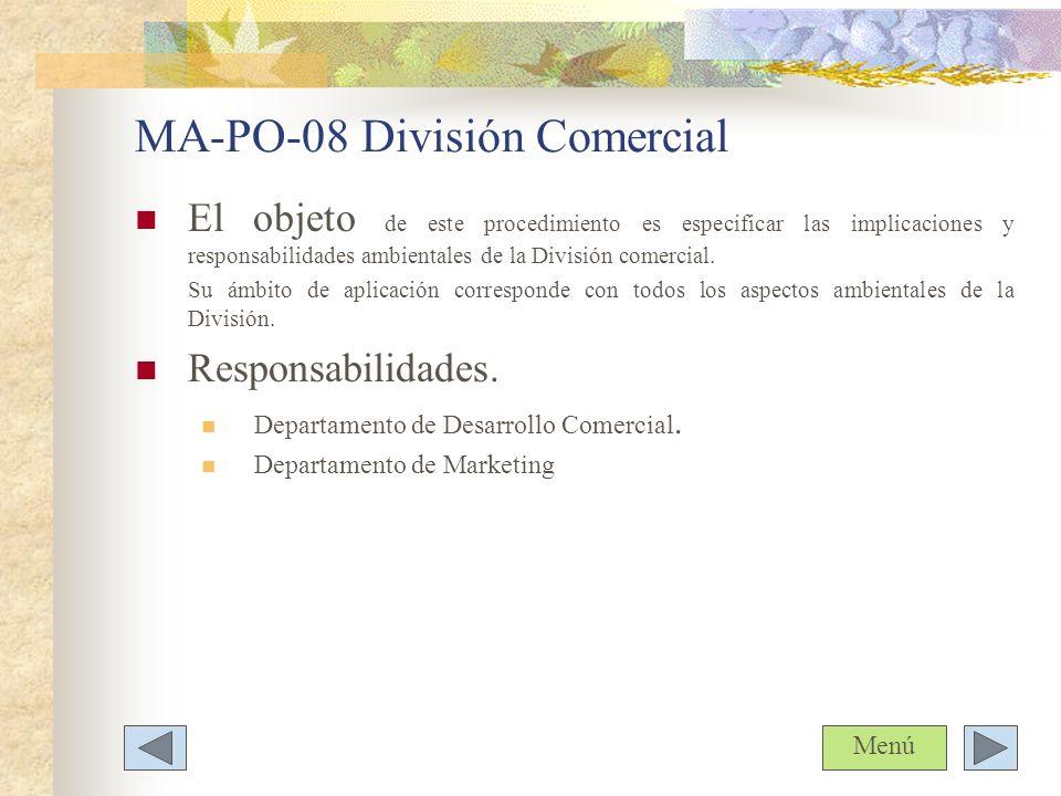 MA-PO-08 División Comercial