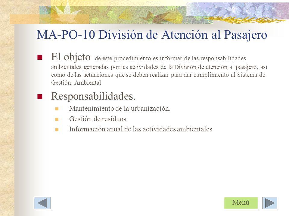 MA-PO-10 División de Atención al Pasajero