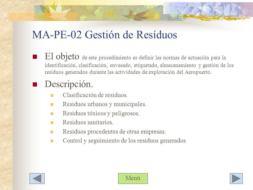 MA-PE-02 Gestión de Resíduos